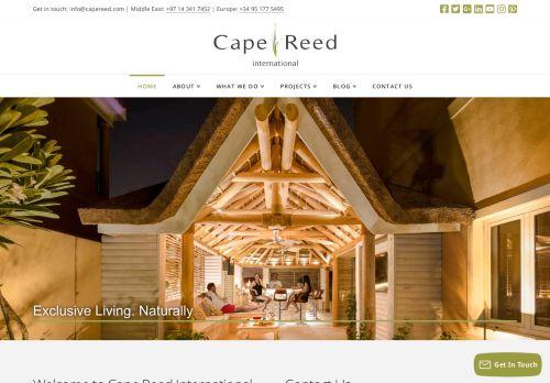 لقطة شاشة لموقع Cape Reed International بتاريخ 05/05/2021 بواسطة دليل مواقع إنسااي