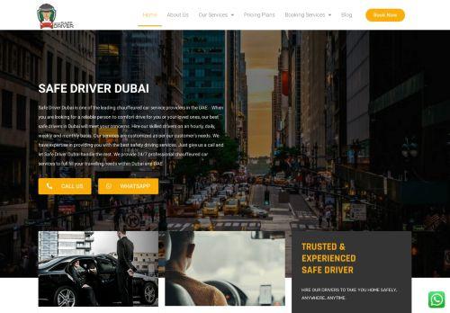 لقطة شاشة لموقع Best Safe Driver Dubai بتاريخ 07/07/2021 بواسطة دليل مواقع إنسااي