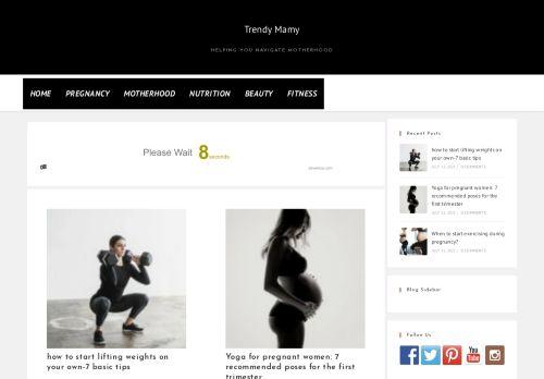 لقطة شاشة لموقع Trendy Mamy بتاريخ 14/07/2021 بواسطة دليل مواقع إنسااي