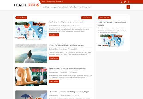 لقطة شاشة لموقع Health Best | Win The Best بتاريخ 02/08/2021 بواسطة دليل مواقع إنسااي