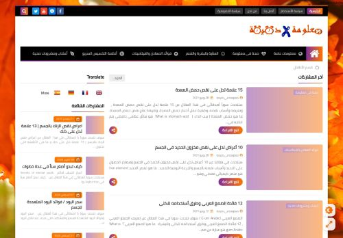 لقطة شاشة لموقع معلومة فى دقيقة information per minute بتاريخ 10/08/2021 بواسطة دليل مواقع إنسااي