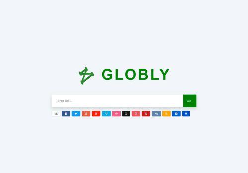 لقطة شاشة لموقع globly بتاريخ 09/09/2021 بواسطة دليل مواقع إنسااي