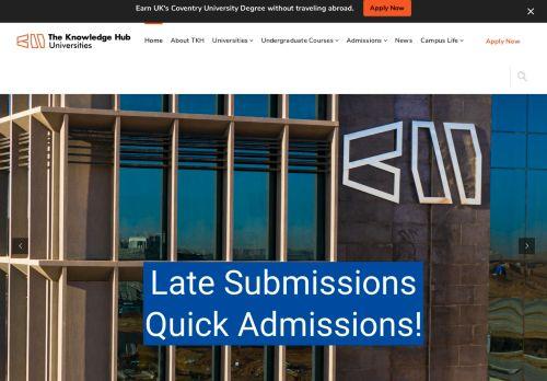 لقطة شاشة لموقع The Knowledge Hub Universities بتاريخ 09/09/2021 بواسطة دليل مواقع إنسااي