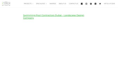 لقطة شاشة لموقع Swimming Pool Contractors Dubai بتاريخ 14/09/2021 بواسطة دليل مواقع إنسااي