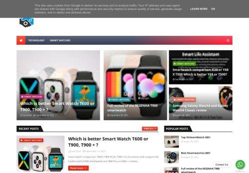 لقطة شاشة لموقع Smartwatch بتاريخ 16/09/2021 بواسطة دليل مواقع إنسااي