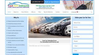 لقطة شاشة لموقع car for dirhams بتاريخ 21/09/2019 بواسطة دليل مواقع إنسااي