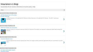 لقطة شاشة لموقع Insurance e shop بتاريخ 08/05/2020 بواسطة دليل مواقع إنسااي