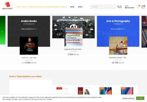 لقطة شاشة لموقع book or tablet Store بتاريخ 24/02/2021 بواسطة دليل مواقع إنسااي